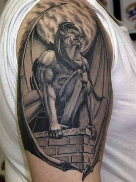 Gargoyle Tattoo Images & Designs Firefighter Tattoo