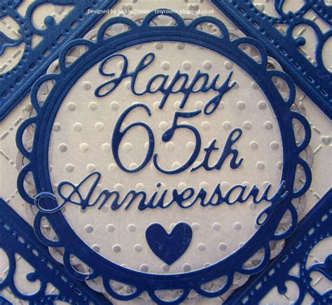 65th Wedding Anniversary Card Uk by Tinyrose S Craft Room 65th Wedding Anniversary Card