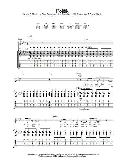 coldplay politik coldplay politik sheet music at stanton s sheet music