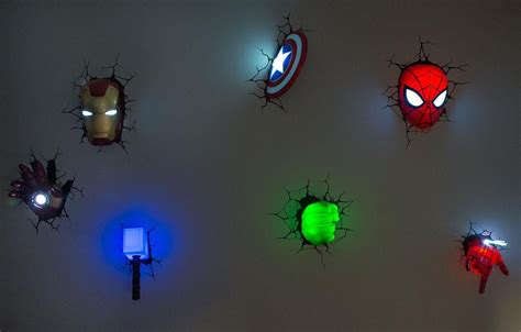 avengers home decor 20 inspirations the avengers 3d wall art nightlight wall