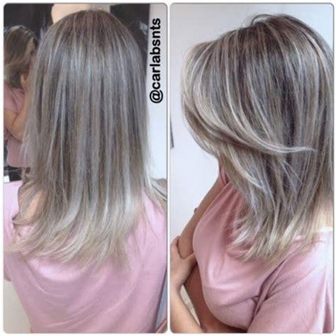mechas ceniza intensa en cabello corto mechas platinadas hair styles pinterest b 250 squeda