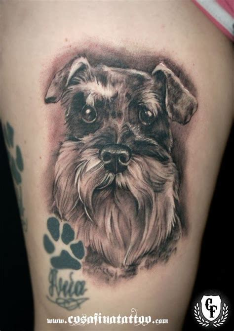schnauzer tattoo would you get a schnauzer like this miniature