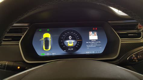 tesla model s instrument cluster tesla hacker changes color of the model s to match wrap