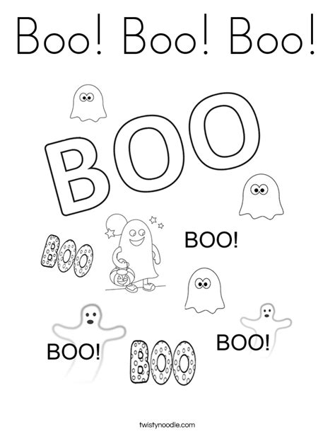 boo template boo boo boo coloring page twisty noodle