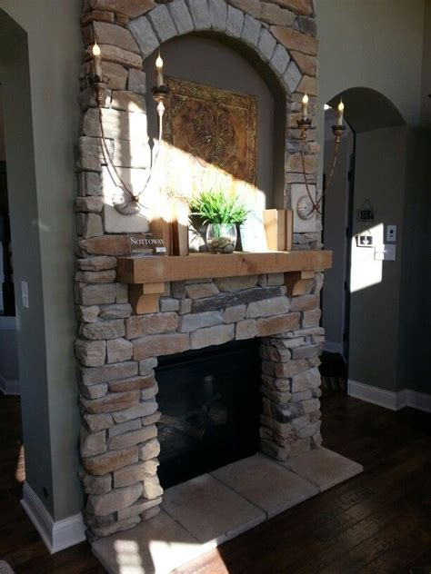 stacked stone fireplace for the home pinterest stacked stone fireplace for the home pinterest