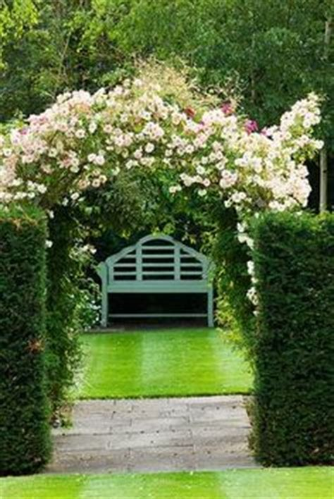 rose arch with bench garden settings on pinterest english country gardens