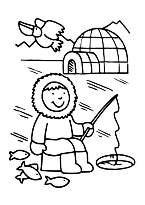 Inuits For Kids Coloring Home