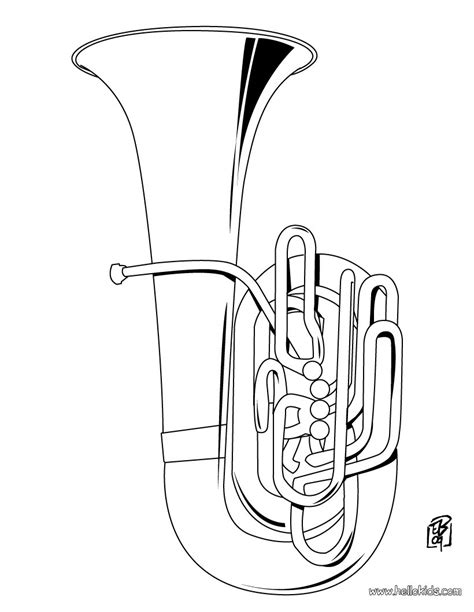 tuba coloring pages hellokids com