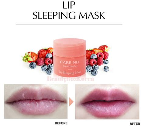 Lip Mask Sleeping 3gr carenel lip sleeping mask made in korea products by best made in korea