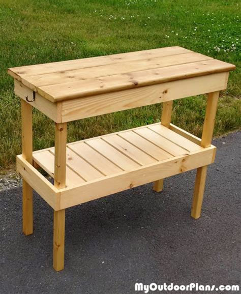 grill table plans free diy bbq table myoutdoorplans free woodworking plans
