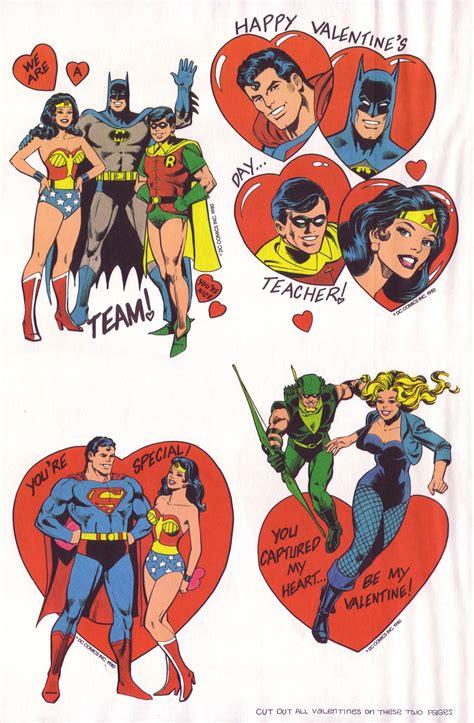 superheroes valentines day superfriends playbook andertoons