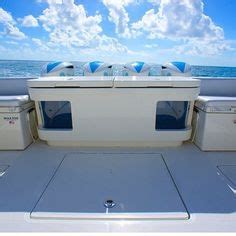 hydra sports custom boats llc sailfish 290cc the center aft bench seat folds away and