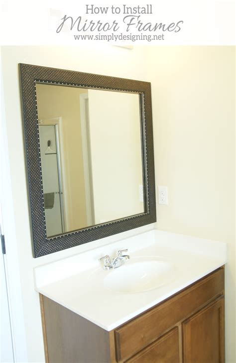 how to install a bathroom mirror frame the