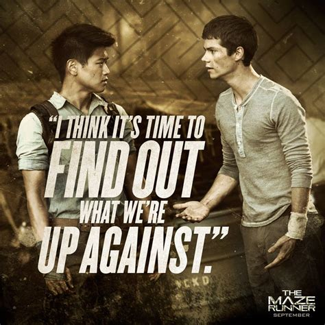 the maze runner film video maze runner quotes alby quotesgram
