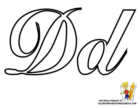 Alphabet D Coloring Pages by Classic Coloring Pages Alphabet Cursive Letters Free