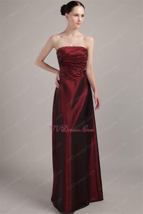 burgundy color dress pretty burgundy floor length taffeta bridesmaid dress