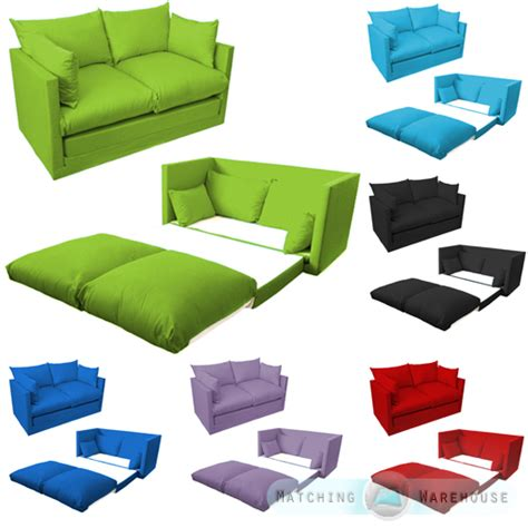 kid futon kids children s sofa foldout z bed boys girls seating seat