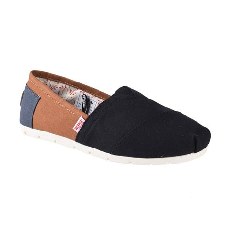 Size 38 Sepatu Slip On Nevada harga wakai wak cw01704 mitsu sepatu wanita charcoal