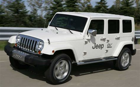 Future Jeep Vehicles by Chrysler Future Electric Vehicles Jeep Wrangler Unlimited