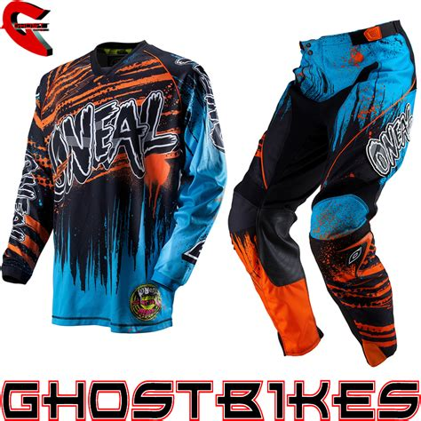 motocross jersey and combo oneal 2013 crypt blue orange mx race motocross