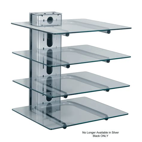 Hanging Component Shelf by Peerless 4 Shelf Component Wall Mount For Av Components Pm610