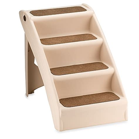 doggy steps for bed pupstep plus dog stairs www bedbathandbeyond com