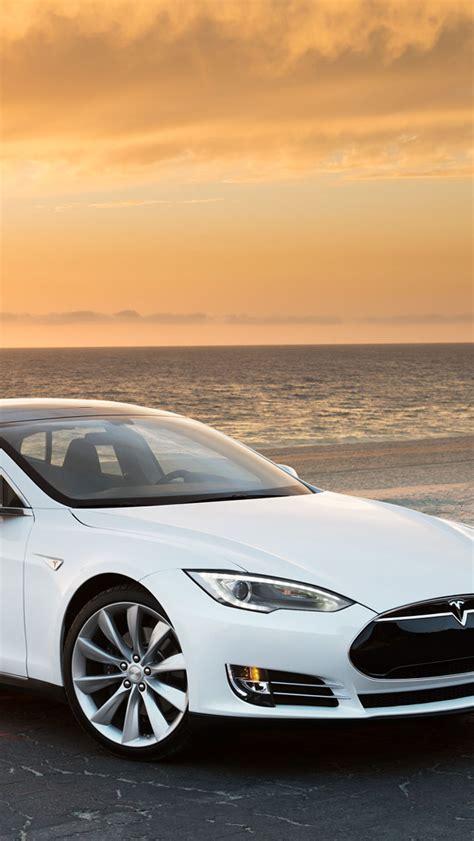 Free Tesla Model S White Tesla Model S Wallpaper Free Iphone Wallpapers