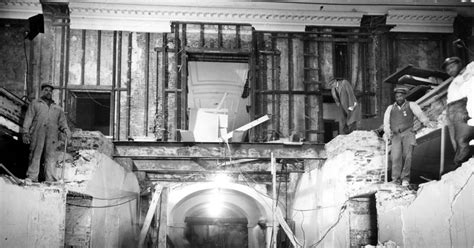 under house renovation white house lower corridor 1950 photos white house under renovation in the truman