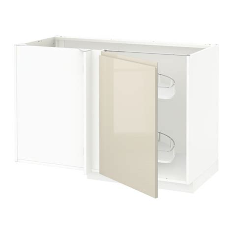 metod corner base cab w pull out fitting white voxtorp