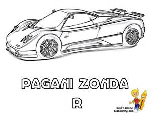 pagani zonda colouring pages