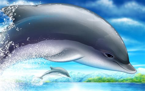 Moving Dolphin Wallpaper