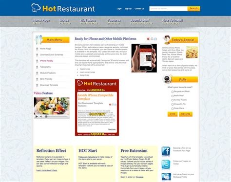 joomla themes detector joomla restaurant template hot restaurant hotthemes