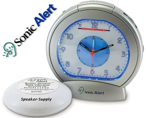 loud analog alarm clock with bed shaker buzzer sonic boom ebay