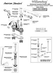 bathroom sink faucet parts diagram american standard