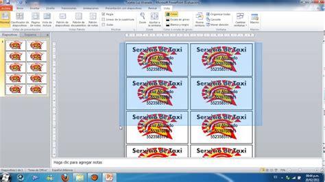 programa para hacer tarjetas de presentacion gratis como hacer tarjetas de presentacion en power point youtube