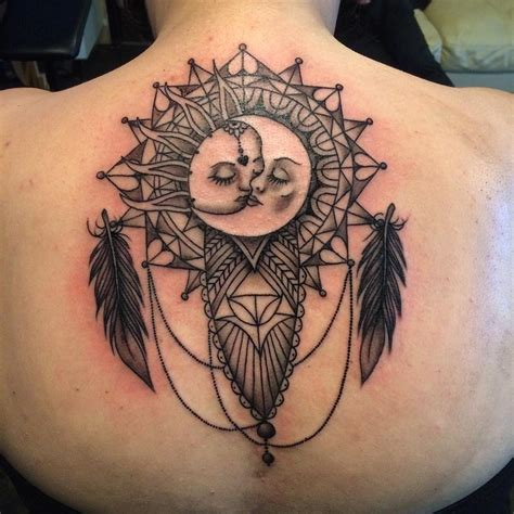 sun and moon dream catcher tattoo tattoos win