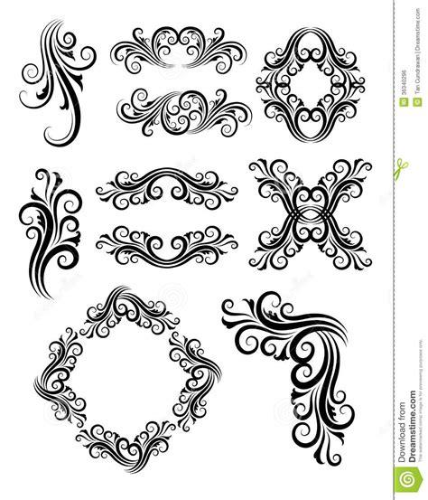 Lettering Slit Side Top bloemenelementendecoratie vector illustratie illustratie