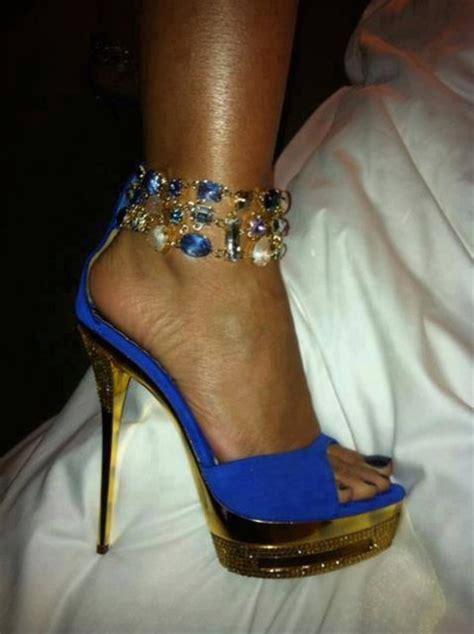 high heels with jewels shoes gold jewels diamonds heels high heels blue
