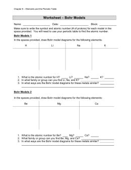 Bohr Model Worksheet Answer Key by Review Of Bohr Models Answer Key