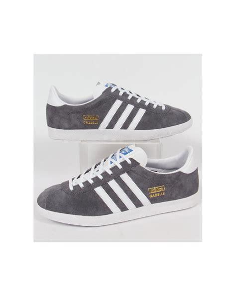 Adidas Grey Original adidas gazelle og trainers sharp grey white originals