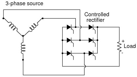 rectifier diode discussion using scr s as a rectifier bridge experimental