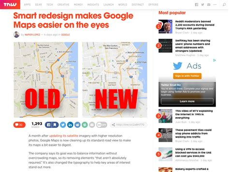 Smart Redesign Makes Google Maps Easier On The Eyes   popular design news of the week july 25 2016 july 31