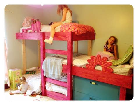bunk bed plans for kids hand crafted triple bunk beds for the kids