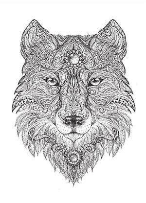 intricate wolf coloring pages l art de m 233 diter 18 pages de coloriage gratuites pour les