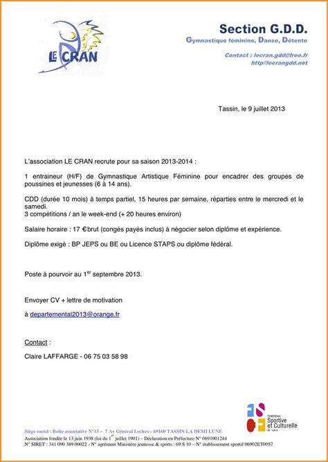 Lettre De Motivation De Vae lettre de motivation ash maison de retraite 28 images