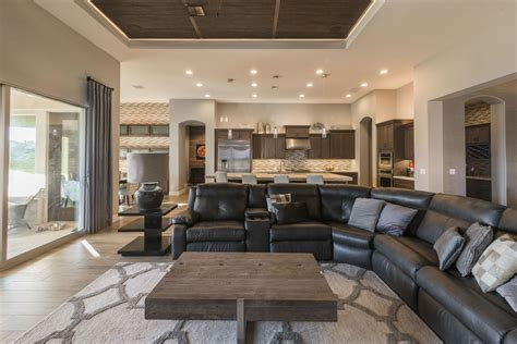 gilbert warm contemporary interior design  elle interiors