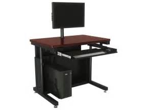 Variable Height Computer Desk Deluxe Height Adjustable Computer Table Ctl Versatables