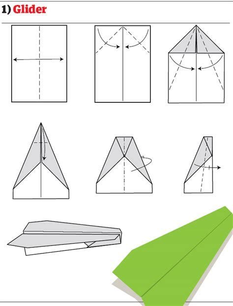 How To Make A Gliding Paper Airplane - paper airplanes how to fold and create paper airplanes