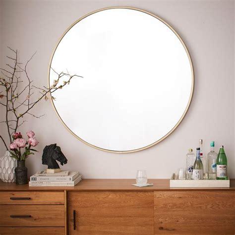 Metal framed oversized round mirror west elm uk