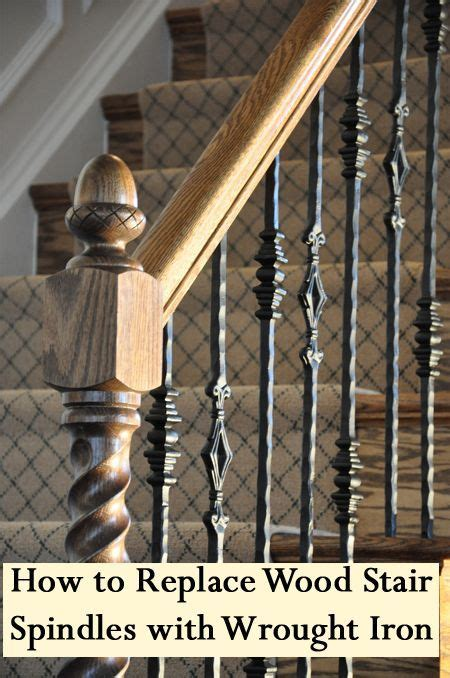 how to remove stair banister stair spindles wood stairs and wrought iron on pinterest